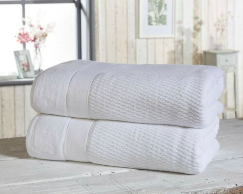 """Rapport 100/% Cotton /""""Royal Velvet/"""" 2 Pack Bath Sheets Towel 5 Colours Available"""