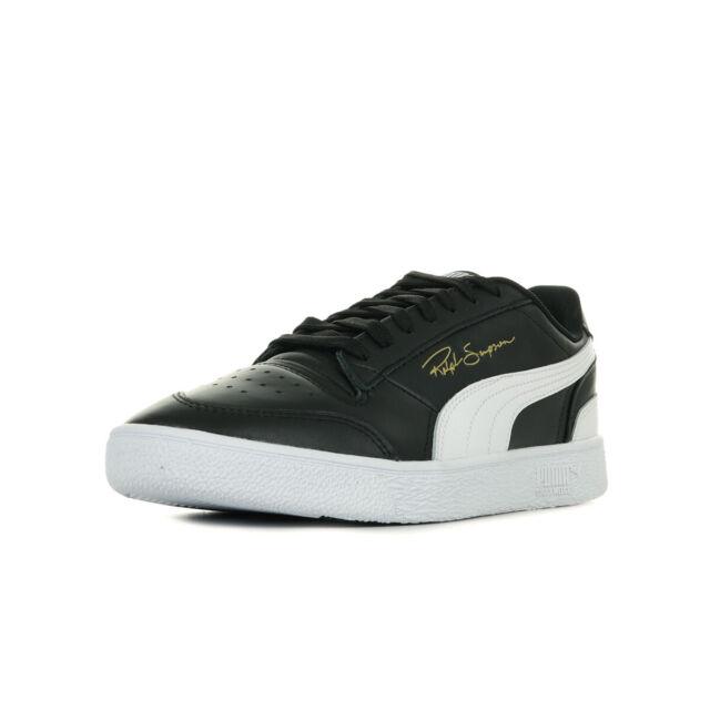 Chaussures Baskets Puma homme Ralph Sampson Lo taille Noir Noire Cuir Lacets