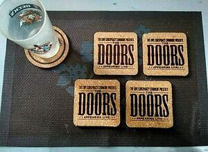THE-DOORS-LIVE-4-CORK-DRINK-COASTERS-POSAVASOS-DE-CORCHO