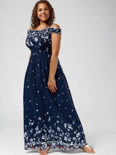 Boho Womens Vintage Floral Off Shoulder Summer Party Evening Maxi Beach Dress