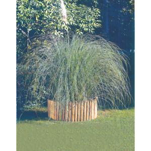 Rollborder recinto mt 2 in legno di pino per recintare aiuole tonde o curvilinee