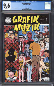 GRAFIK-MUZIK-3-CGC-9-6-NM-Mike-Allred-very-early-Madman