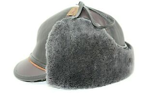 1df396e307d35f Image is loading Gravel-Winter-Hunting-Hat-Fur-Leather-Trapper-Russian-