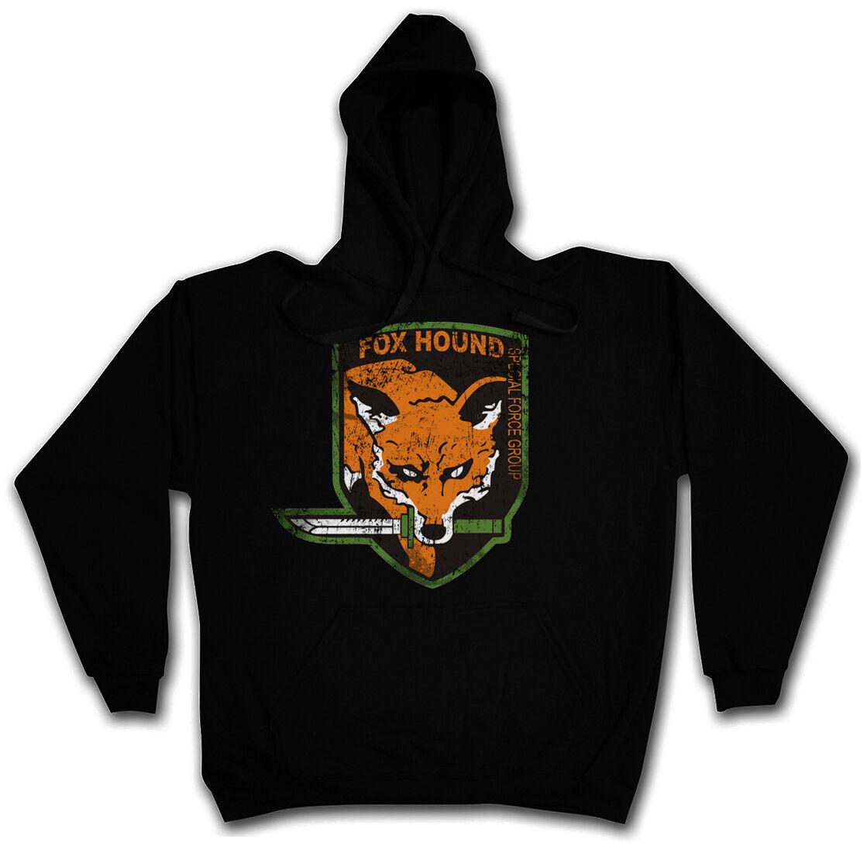 FOX HOUND GROUP HOODIE Metal VG Snake Gear MG Solid Hooded Sweat Kapuzenpullover