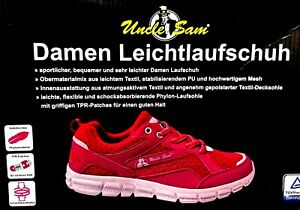 Details zu Uncle Sam Damen Laufschuhe Gr.39 Schuhe Sportschuhe Sneaker Turnschuhe pinkweiß