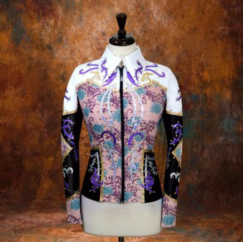 2XSMALL Showmanship Pleasure Horsemanship Show Jacket Shirt Rodeo Queen Rail
