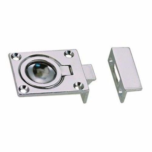 "Perko Fig 1051 Flush Ring Catch 1051DP0CHR Dimensions 2-1//4/"" x 1-3//8/"" MD"