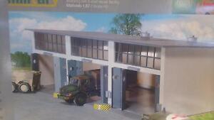 * Herpa Military 745802 Building Set 3-stall repair facility 1:87 HO Scale - Wroclaw, Polska - Zwroty są przyjmowane - Wroclaw, Polska