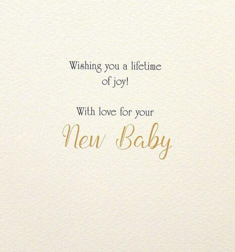 Birth of a Baby Boy Girl Open Neutral Baby Birth Card Neutral Baby Birth Card
