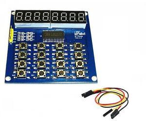 8 Bits LED Digital tube Module Keyboard Scan and Display Module TM1638 MCU M