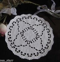 "5"" inch WHITE PAPER VICTORIAN BRIDAL LACE LACY DOILY 25 PCS ❤ USA❤  CRAFT ROUND"