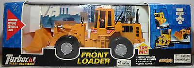 Electronic, Battery & Wind-up Everbright Vtg 80's B/o Huge 14'' Front Loader Turbocat Heavy Machinery Working Easy And Simple To Handle 1970-1989