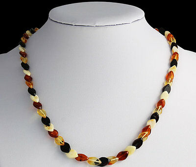 Natural Baltic Amber Adult Overlapping Beads Necklace in any Color You Choose