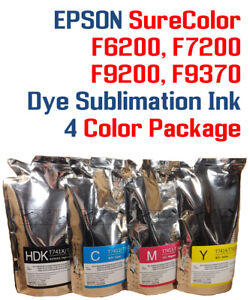 Details about Dye Sublimation Ink - Epson SureColor F6200 F7200 F9200 F9370  printers w/chips