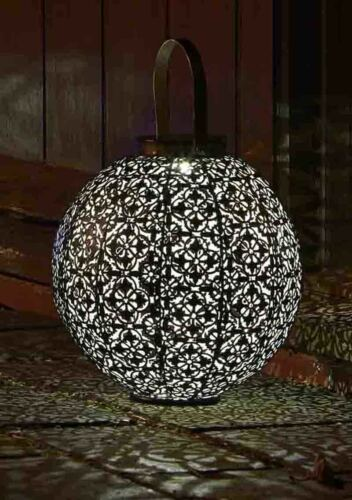 Damasque Solar Powered Moroccan Style Silhouette Lantern by Smart Solar