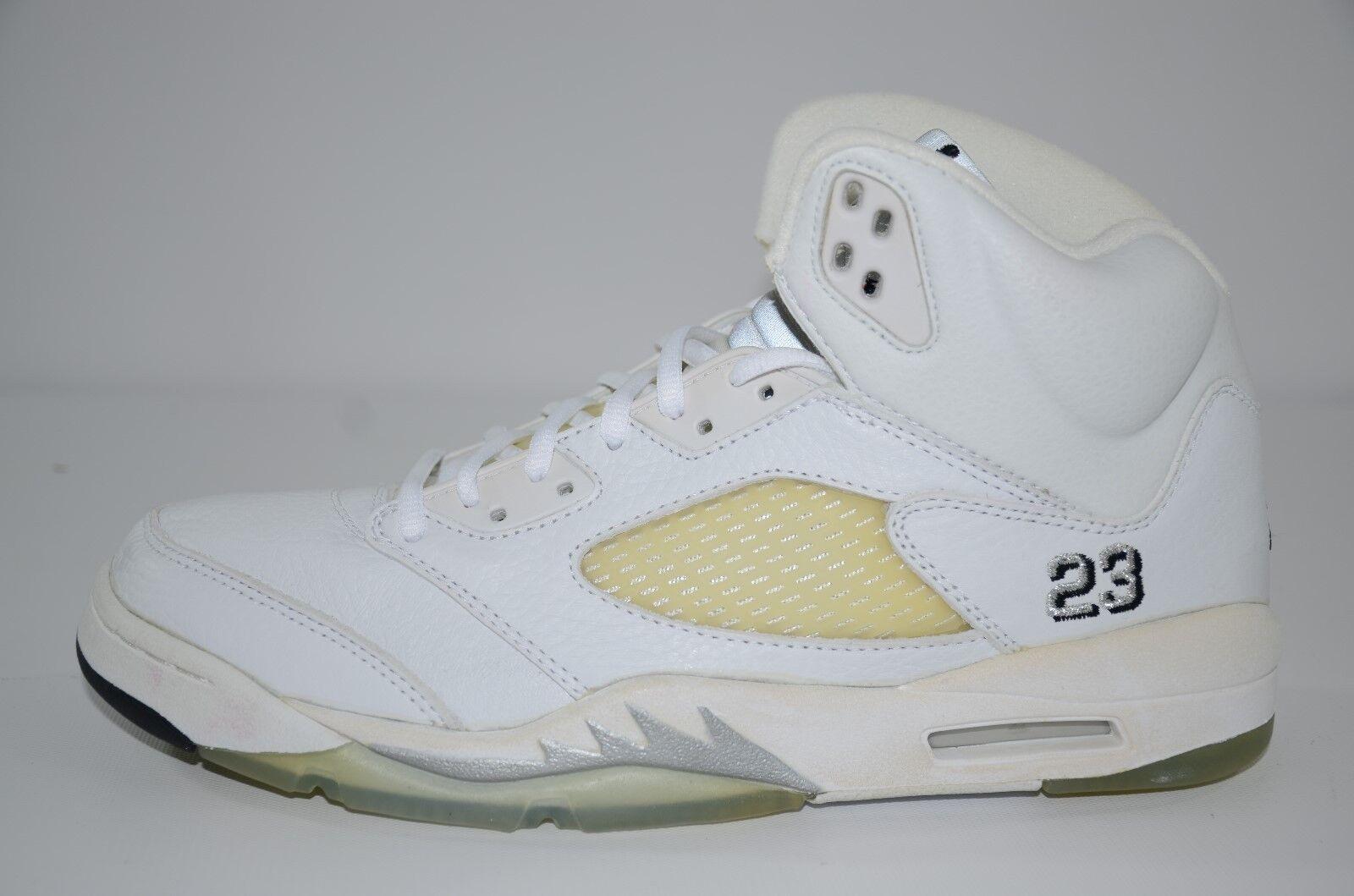 Nike Air Jordan 5 Retro Metallic White 2000 DS Size 10.5 136045-101 unwearable