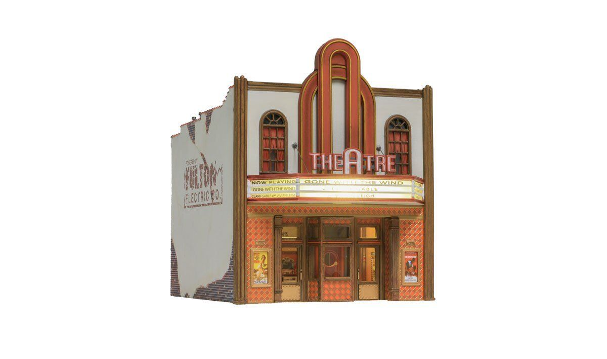 Woodland Scenics BR5054, HO Scale, Theater, Built-Up & LED Lights