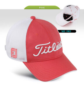 Titleist Mesh Golf Cap Hat HJ5CRM Pink Mens Womens Authentic ... e5e3a14ef18