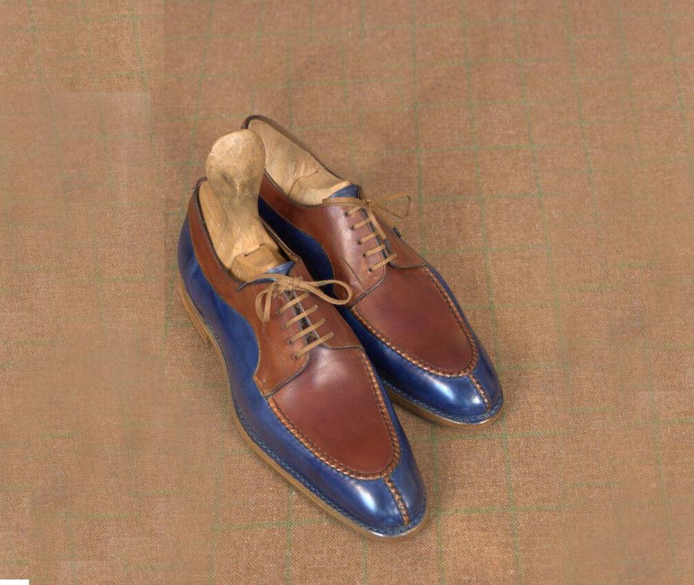 garantito Handmade Uomo Fashion Two tone scarpe, Uomo Uomo Uomo formal scarpe, Uomo dress leather scarpe  fino al 65% di sconto