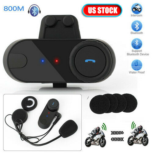 2x Freedconn Bluetooth Motorcycle Helmet Interphone Intercom Headset 800m GPS FM