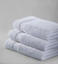 6 NEW WHITE COTTON HOTEL BATH TOWELS 22x44 NEW SALON PLUS BRAND