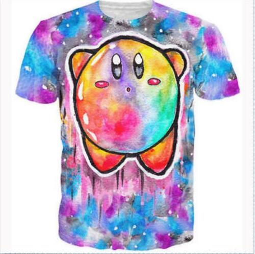 2016 Fashion Womens//Mens Cute cartoon character Kirby 3D Print New T-Shirt GB94
