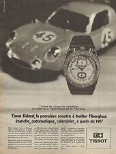 Publicité Advertising 1970  Montre TISSOT SIDERAL