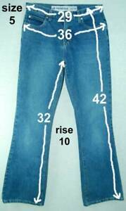Vintage-FLARE-Mid-Rise-ANCHOR-BLUE-Junior-Collection-HIPSTER-Cotton-Jeans-5