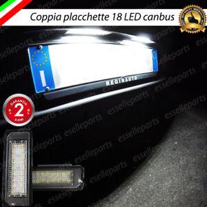 COPPIA-PLACCHETTE-A-18-LED-LUCI-TARGA-GOLF-4-5-6-POLO-9N-6R-6C-SCIROCCO-PASSAT
