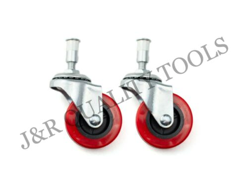 "2 Pieces 2/"" Replacement Caster Wheel for Creeper Swivel Chrome Plated Mechanic"