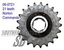 06-0721 GEARBOX SPROCKET 21 teeth Norton Commando PIGNONE GETR. 530 5/8x3/8 CHAIN