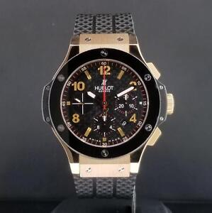 07316bd1788 Hublot Big Bang 44mm Chrono 18k Rose Gold   Ceramic Bezel Ref. 301 ...