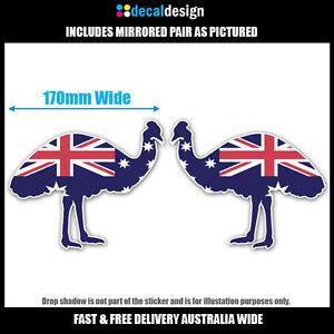 Aussie-Emu-Southern-Cross-Flag-Sticker-Pair-for-car-4wd-boat-bike-skateboard