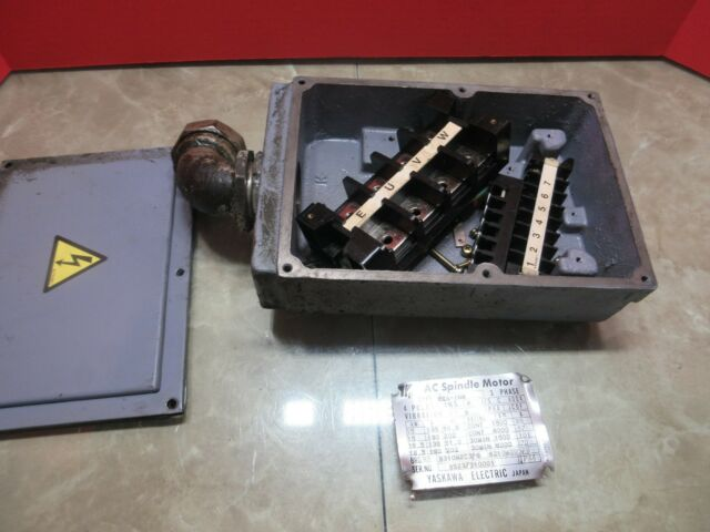 Yaskawa Ac Spindle Motor Wire Terminal Box Connection Eea