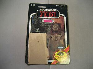 Vintage-1984-Star-Wars-Lumat-Ewok-ROTJ-79-Cardback-Only-READ