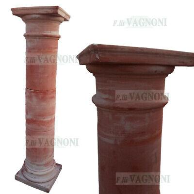 Colonna Classica in Marmo Rosso Portogallo Classic Red Marble Columns H.100cm