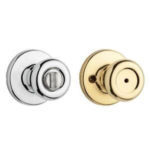 kwikset tylo polished brass polished chrome bed bath knob 258309 door
