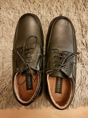 bnwobmens black smart/casual shoes from george/asda size