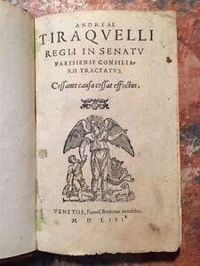 2-Opere-in-1-Volume-Tiraquelli-Cessante-causa-1553-Tiraquelli-Le-mort-1555