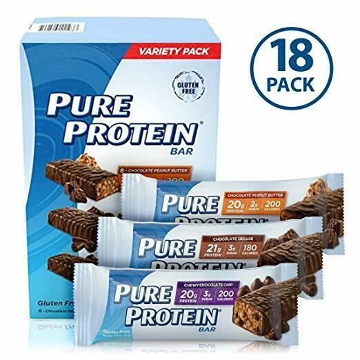 Pure Protein Bar Variety Pack 1.76 oz,18 ct