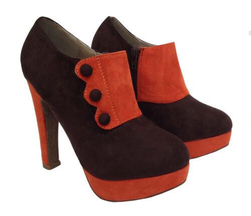 Womens Ladies Italian Platform Stiletto Ankle 5 High Heels Court Shoes Size 3 4
