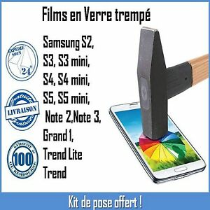 Vitre-Film-protection-verre-Trempe-ecran-Incassable-Samsung-S2-S3-S4-S5-Note