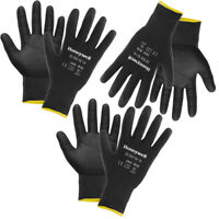 3 Pairs Of Honeywell Nitrile-Coated Work Gloves