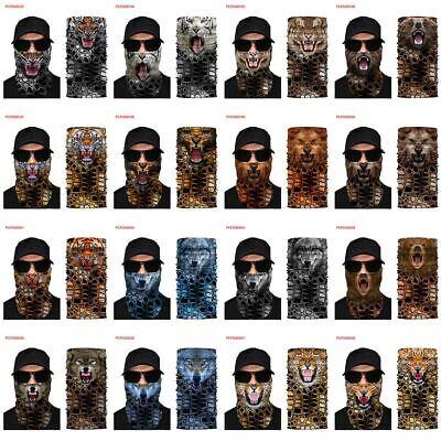 3D Wolf SPF40 Face Shield Sun Mask Neck Gaiter Cycling Outdoor Balaclava Scarf