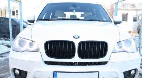 2 GRILLE DE CALANDRE NOIR GLOSSY BRILLANT BMW X5 E70 DE 03//2007 A 2013 ET X6 E71