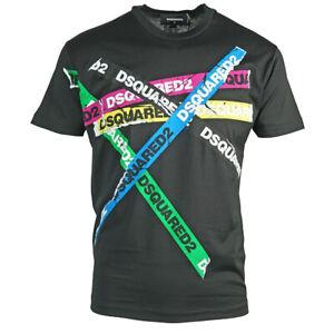 DSQUARED-2-Multicolore-Nastro-Cool-Fit-Nero-T-shirt