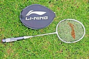 Li-Ning-XP-90-Strung-Badminton-Racquet-White-Silver-Buy-2nd-30-Off-Syd-Stock
