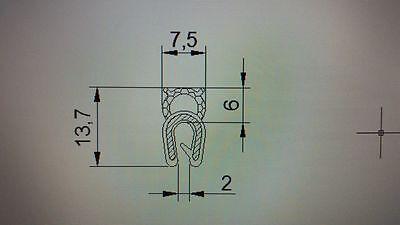 10m 3-5 mm ROSTET NiCHT Dichtungsprofil  Profil  Kofferraumdichtung