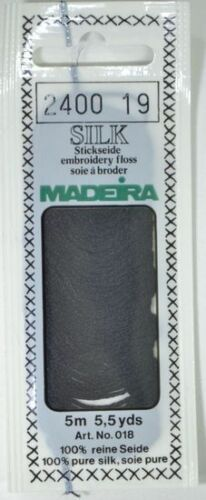 4-Strand Hand Embroidery Thread Madeira 100/% PURE SILK Colour 2400 BLACK