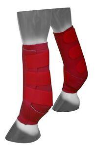 Rot-verstellbar-Groesse-Large-Neopren-Sport-Stiefel-von-Showman-NEU-Pferd-Tack